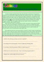 English Worksheet: Cameras