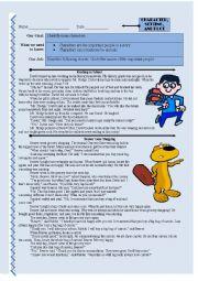 English Worksheet: Comprehension: Character, Setting, and Plot