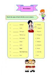 English Worksheet: Asean Foods