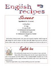 English Worksheet: English recipes_Scones and Tea