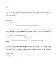 English Worksheet: movers yle