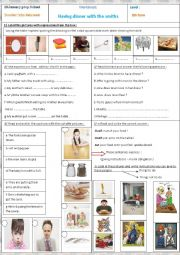 English Worksheet: Having dinner with the smiths+table manners