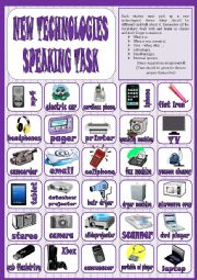 New technologies - speaking task