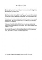 English Worksheet: Sample Essay Italy