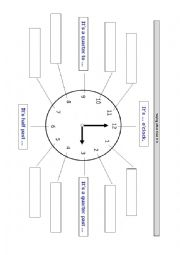 English Worksheet: Asking and telling the time