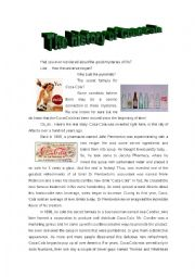English Worksheet: The history of Coca-cola