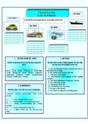 English Worksheet: Travelling and Tourism