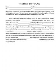 English Worksheet: Boston