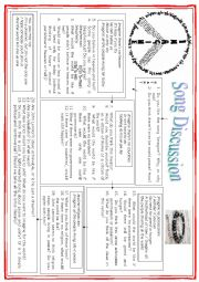 English Worksheet: DISCUSSION �Imagine� Song by John Lennon - Part Three
