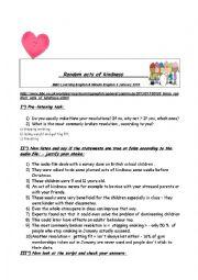 English Worksheet: Listening; New year resolutions