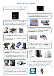 English Worksheet: A brief history of consoles