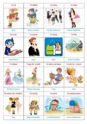 English Worksheet: present progressive  ; simple present (2)