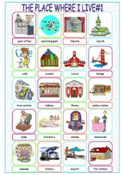 English Worksheet: The Place Where I Live (Picture Dictionary#1)