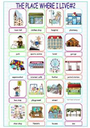 English Worksheet: The Place Where I Live (Picture Dictionary#2)