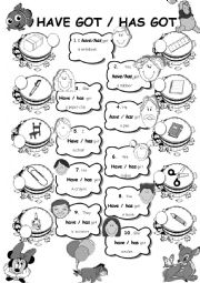 English Worksheet: Have got - has got & Classroom objects