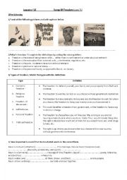 English Worksheet: Songs of freedom, by C.Santana