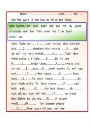 English Worksheet: Rhym word