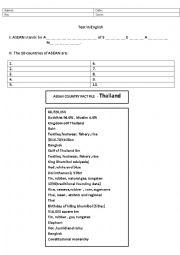 English Worksheet: Asean Test Thailand