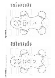Gingerbread man Body parts