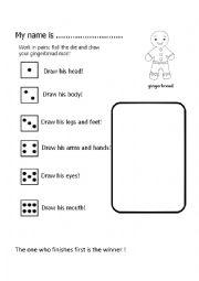 English Worksheet: Gingerbread man game