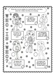 English Worksheet: WHO IS WHO? PART 01