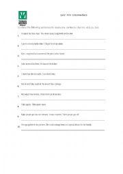 English Worksheet: Compound Sentences Quiz