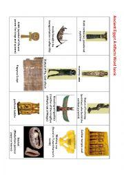 English Worksheet: Ancient Egypt Word bank