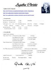 English Worksheet: Agatha Christie Webquest