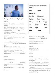 English Worksheet: Passenger,