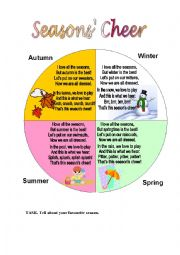 English Worksheet: SEASONS� CHEER (4 poems  for kids)