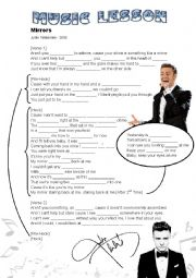 English worksheet: Mirrors Song - Justin Timberlake
