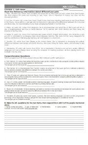 English Worksheet: Pen Pals descriptions