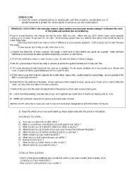 English worksheet: Cash Flow