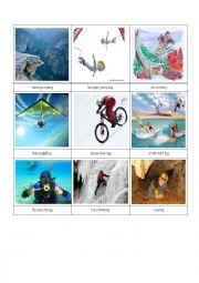 English Worksheet: more extreme sports