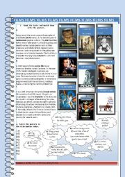 English Worksheet: Famous films and film quotes