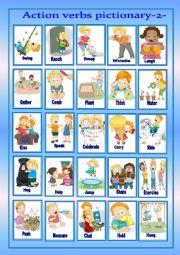 English Worksheet: Action verbs pictionary-2-