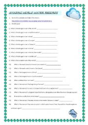 English Worksheet: world water records