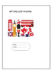 English Worksheet: My English folder