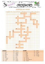 Crossword with Irregular verbs