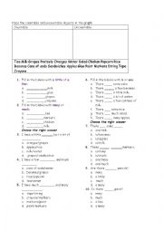 English Worksheet: A few, a little, many much countable and uncountable