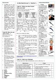 English Worksheet: At the Hairdresser�s / Barber�s