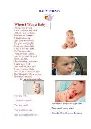 English Worksheet: BABY POEMS