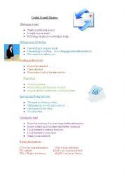 English Worksheet: Useful Email Phrases