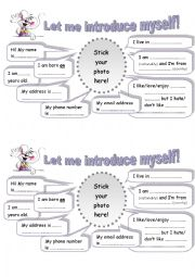 English Worksheet: Let�s introduce yourself!