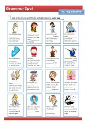 English Worksheet: Participle Adjectives