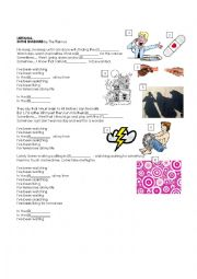 English Worksheet: Present Perfect Continuous with a song