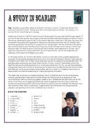 English Worksheet: Sherlock Holmes Reading Exercise