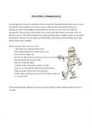 English Worksheet: Mummification Process