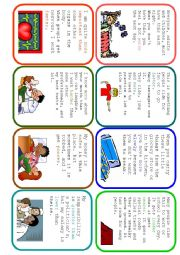 English Worksheet: Easier Said Than Done - Comparative Guessing Card Game (2/2)