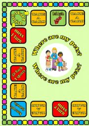 Where Are My Pets Board Game 1/2